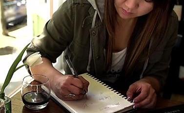 El bolígrafo que escribe con vino