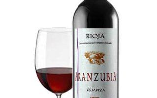 Vino Rioja Crianza Aranzubia