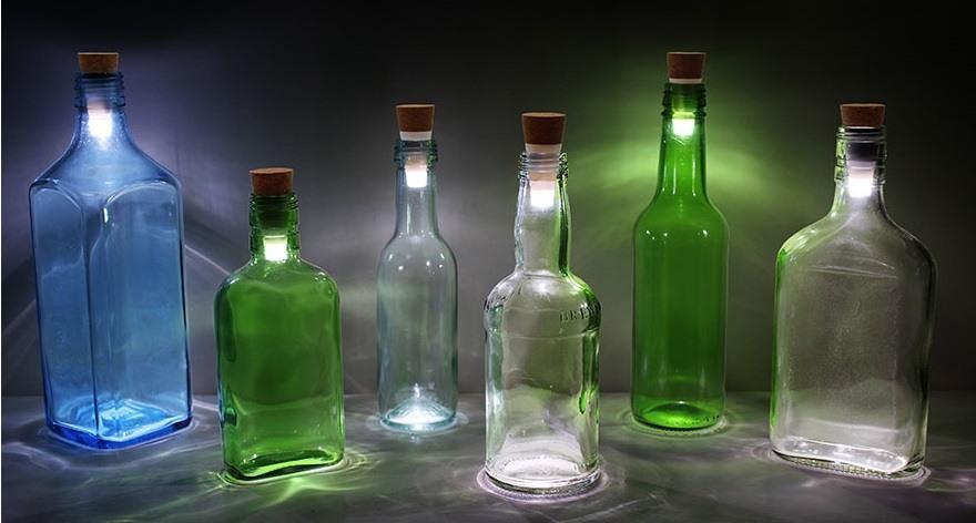 Botellas vino LED