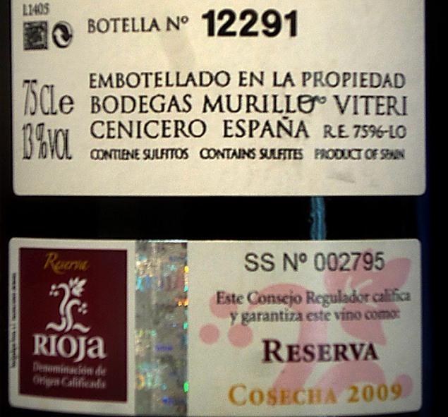 Sulfitos vino Rioja