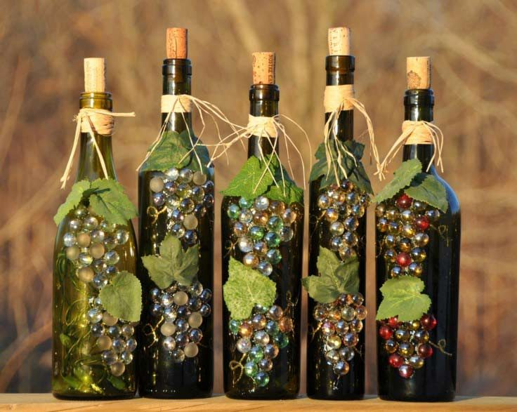 Decoración Botellas Vino