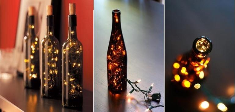 Ideas de decoración con botellas de vino