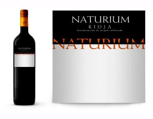 Vino personalizado con mensaje Naturium crianza