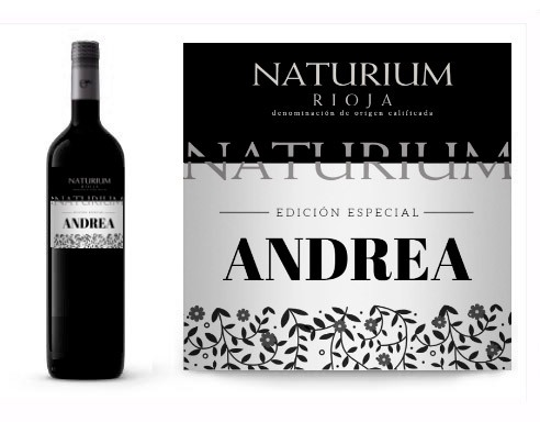 Vino personalizado para cumpleaños Naturium Reserva