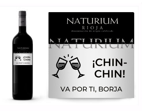 Vino personalizado mujer Naturium Reserva