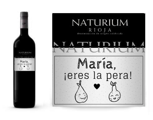 Vino Personalizado Pareja Naturium Reserva