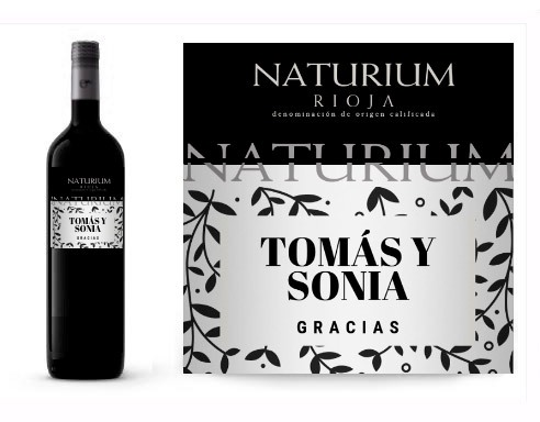 Vino tinto personalizado divertido Naturium Reserva